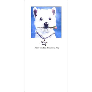 posh pawz westie mothers day card