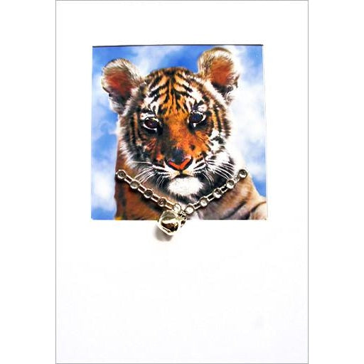 posh pawz tiger cub greeting card DL