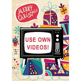 Zapz Christmas Retro Television TV Video Augmented Reality Greeting Card