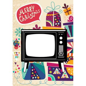 Zapz Christmas Retro Television TV Video Augmented Reality Greetings