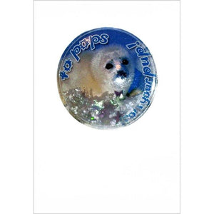 Shakers 'n' Movers Christmas Seal Pup Greeting Card