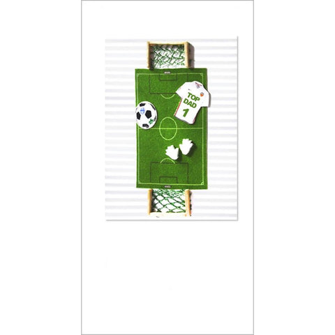 Sportz Football Pitch Father's Day Greeting Card