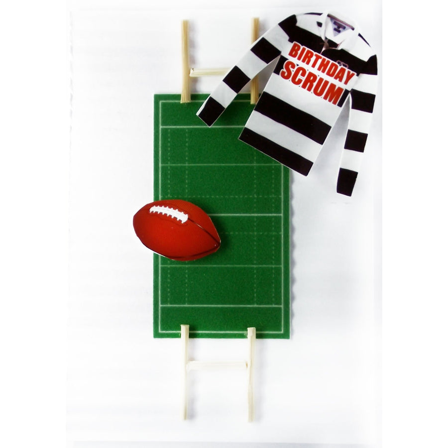 Sportz Rugby Birthday Scrum Birthday Greeting Card