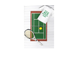 Sportz Tennis Court 3D Greeting Card - Have an ACE Birthday!