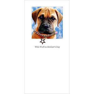 posh pawz bull mastiff puppy mothers day card