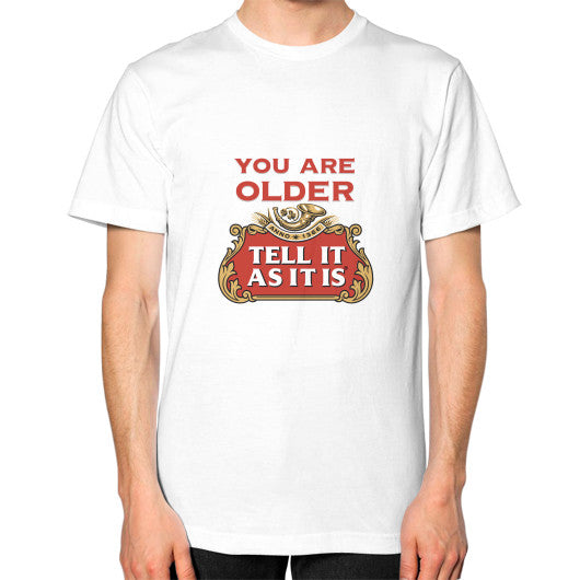 Unisex T-Shirt - Stella Artois - Tell It As It Is - Personalisable with a name and age! White Wizhez