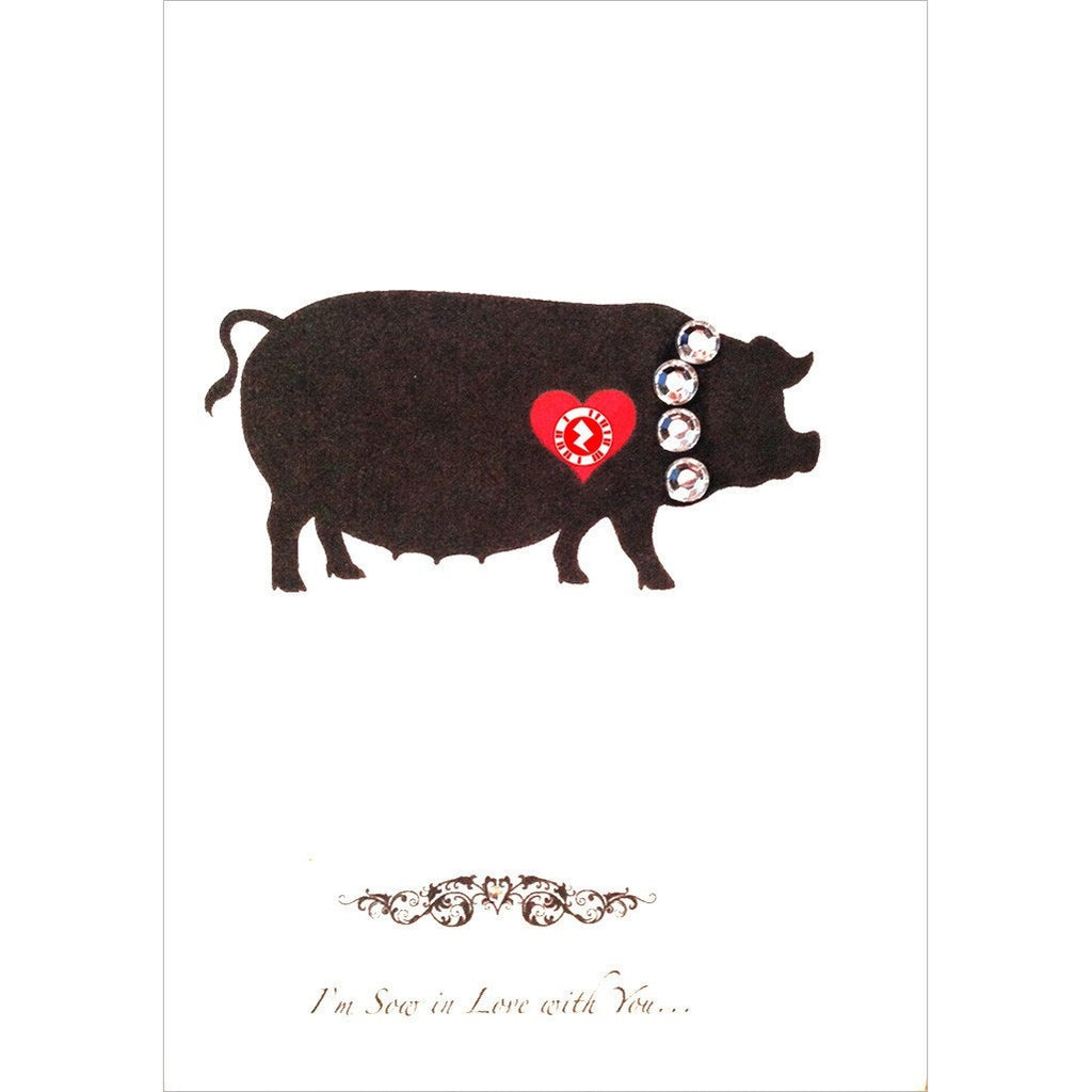 Love Zapz 'I'm Sow in Love with You' Pig Valentines video greeting card
