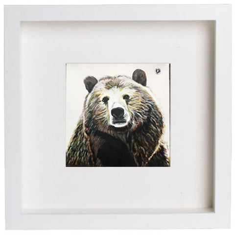 Augmented Reality Wall Art Framed Print - Beautiful Big Brown Bear