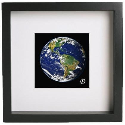Augmented Reality Wall Art Framed Print - Earth From Space
