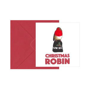 Christmas Robin Square Seasons Greetings