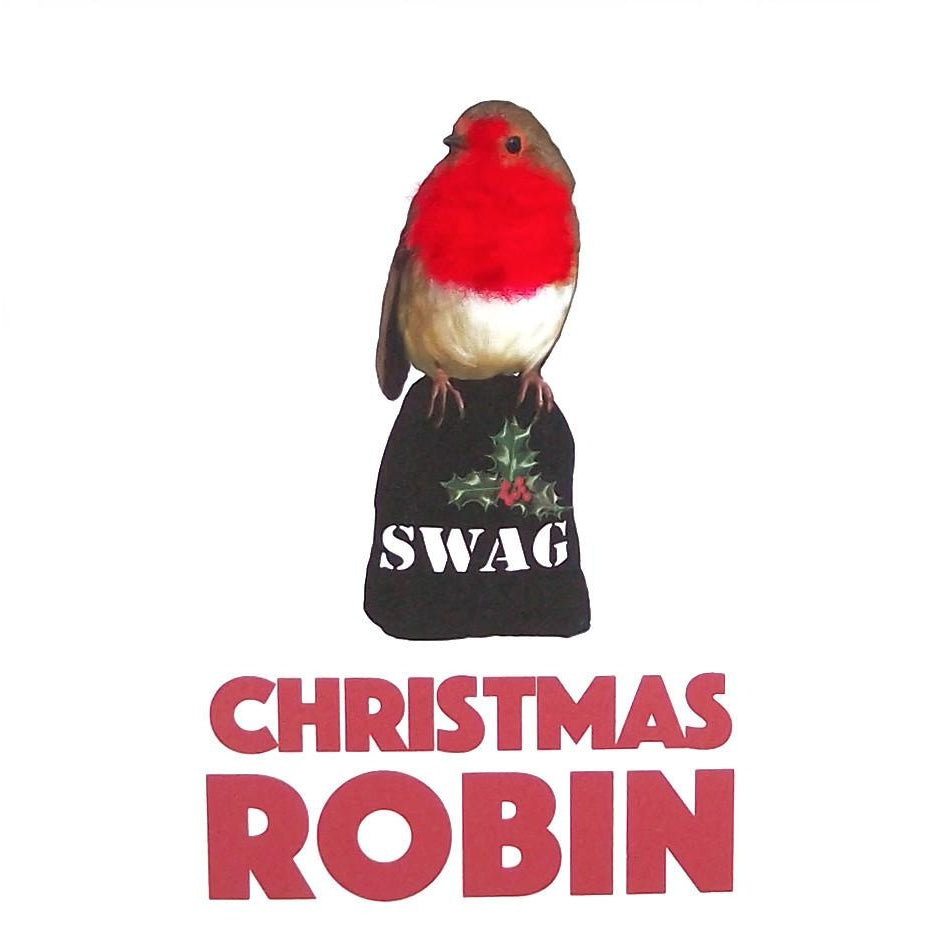 Christmas Robin Square Greeting Card