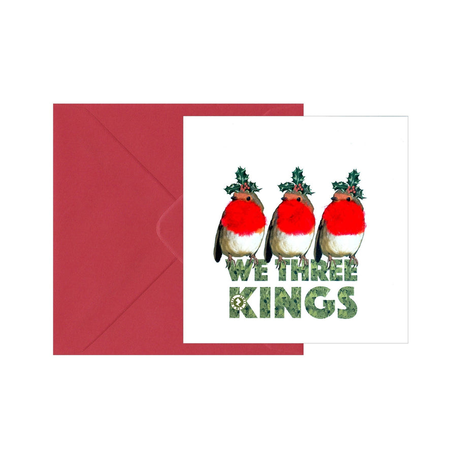 "Christmas Robins ""We Three Kings"" Augmented Reality Square Seasons Greetings"