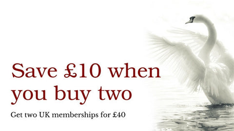 BUY ONE MEMBERSHIP, GIVE ONE TO A FRIEND - TWO MEMBERSHIPS FOR £40