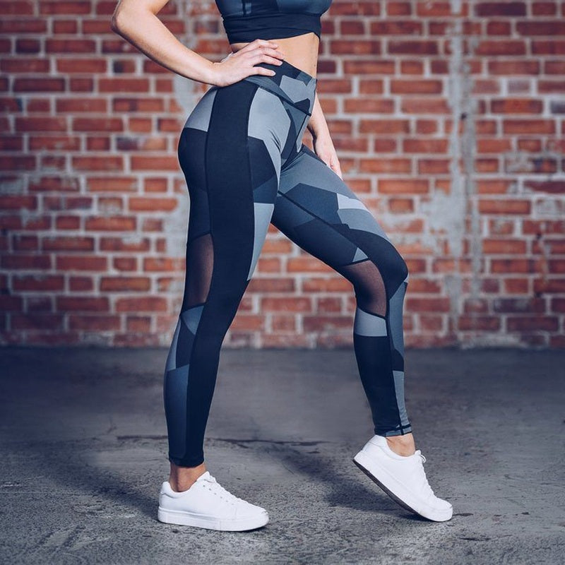 Patchwork  Slim High Waist leggings