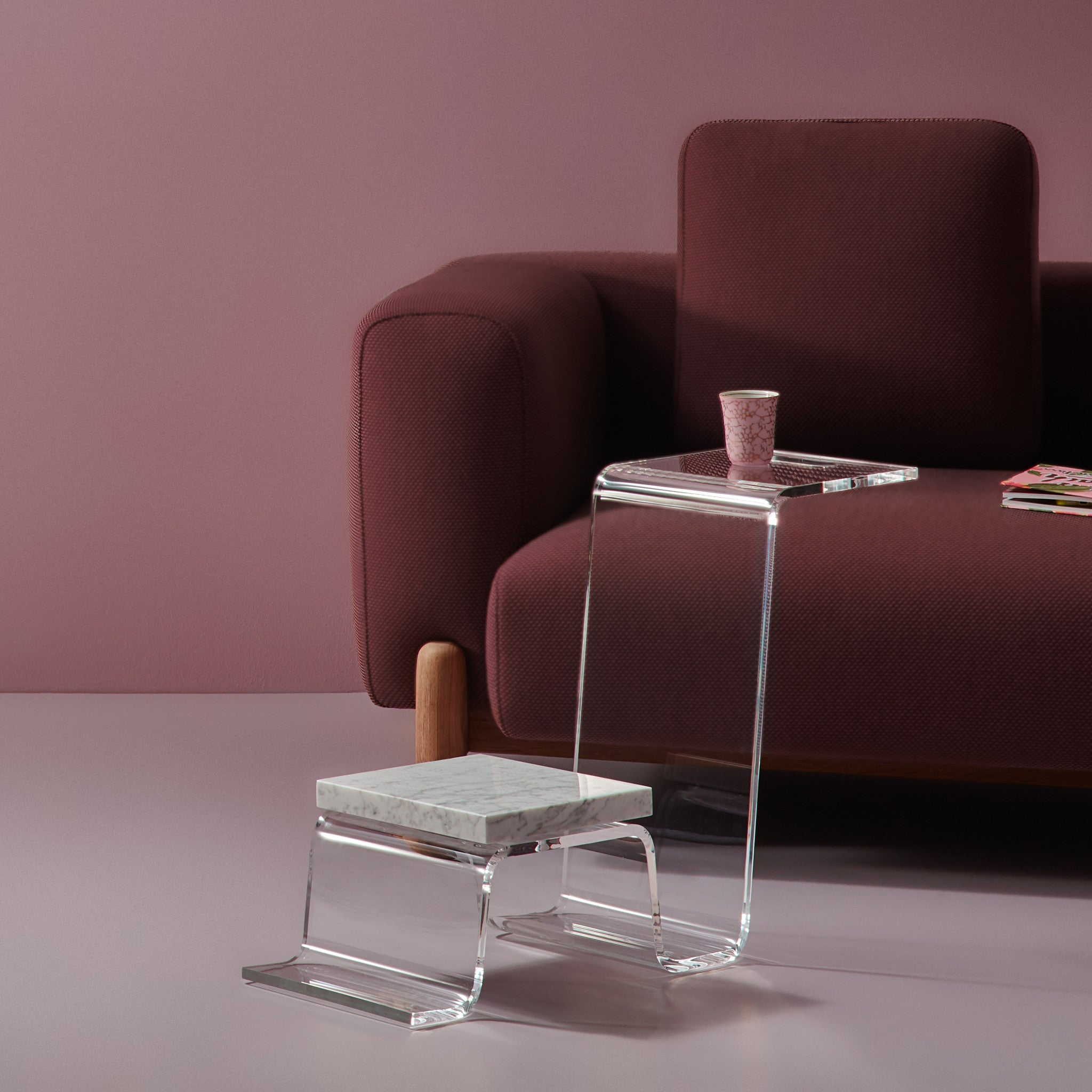 THE LINE Perspex Coffee Table
