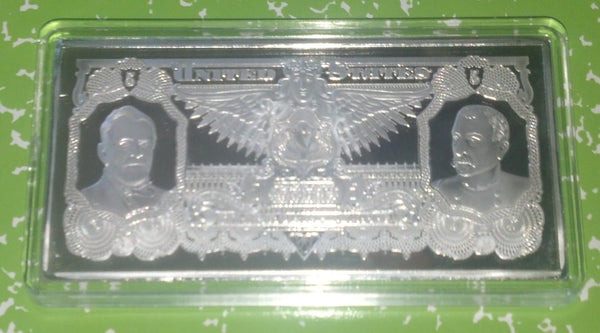 4 Oz 5 Educational Series Federal Banknote Silver Plated