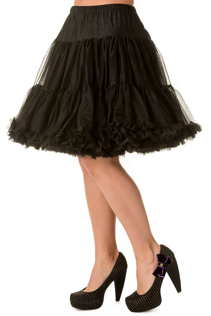 Super soft 20 inch Walkabout Petticoat BlackPetticoatBanned - Cherri Lane 50's Vintage Inspired Pinup Rockabilly & Alternative Clothing Australia