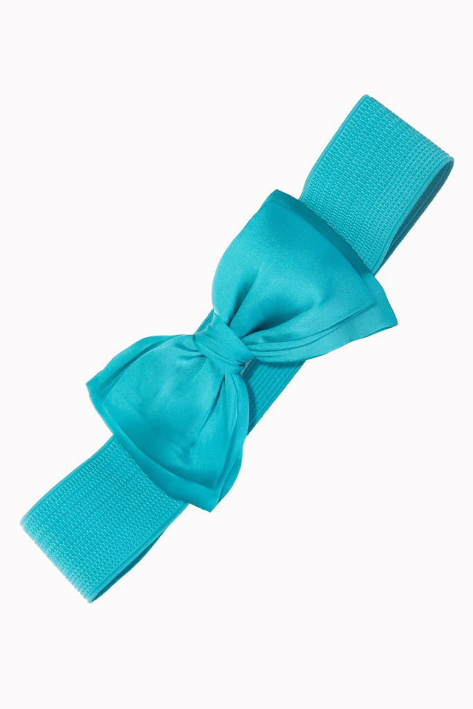 Bella Elastic Satin Bow Belt Various ColoursBeltBanned - Cherri Lane 50's Vintage Inspired Pinup Rockabilly & Alternative Clothing Australia