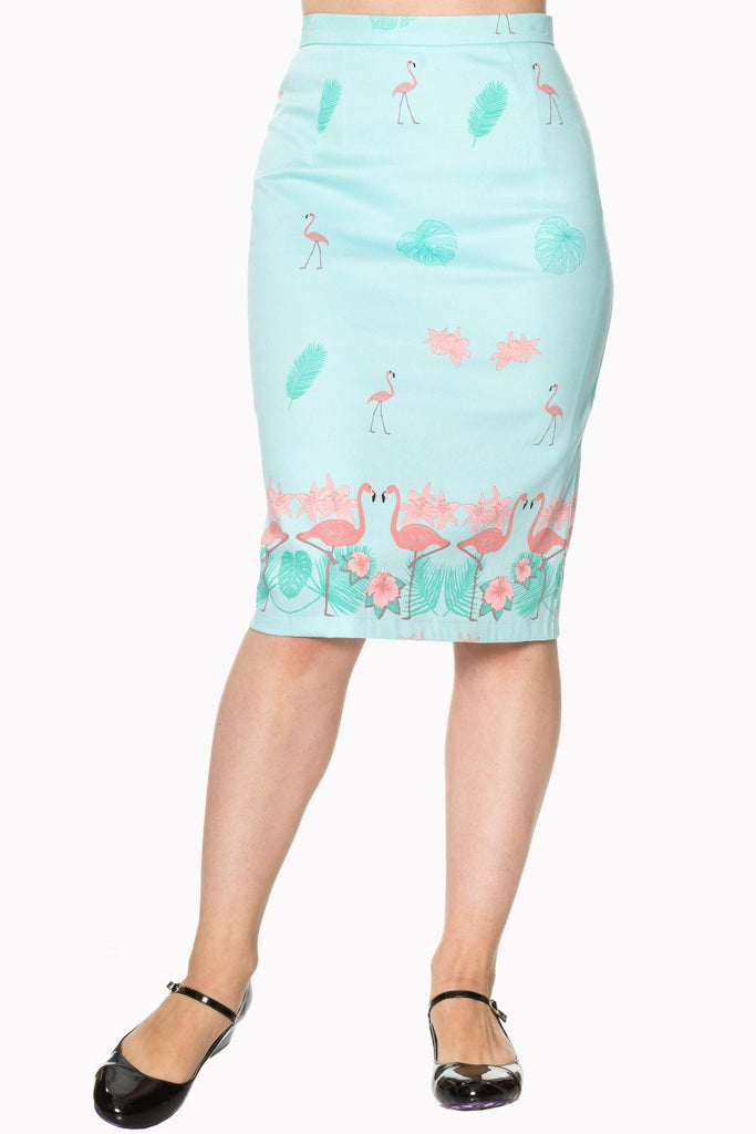 Going My Way Pencil Skirt FlamingoSkirtBanned - Cherri Lane 50's Vintage Inspired Pinup Rockabilly & Alternative Clothing Australia