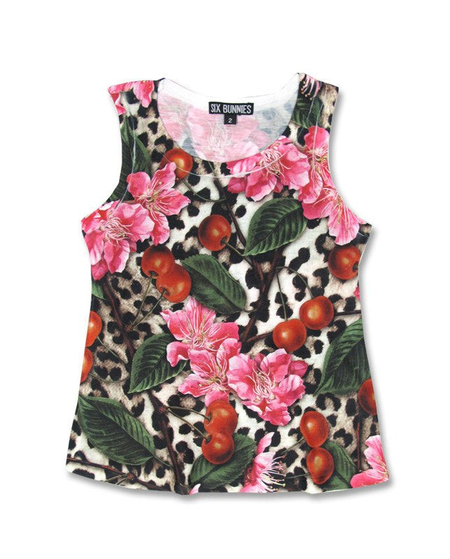Leo Cherry Blossom Tank TopKids wearLiquor Brand - Cherri Lane 50's Vintage Inspired Pinup Rockabilly & Alternative Clothing Australia