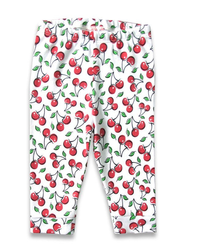 Cute Cherries Infant Capri LeggingsKids wearLiquor Brand - Cherri Lane 50's Vintage Inspired Pinup Rockabilly & Alternative Clothing Australia