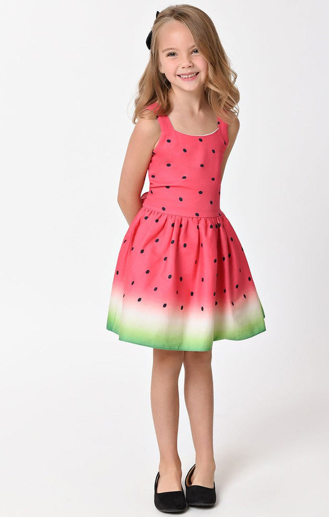 Watermelon Dress (KIDS)DressUnique Vintage - Cherri Lane 50's Vintage Inspired Pinup Rockabilly & Alternative Clothing Australia