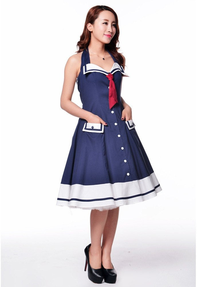Sweetheart Sailor Swing Dress Plus SizeDresschicstar - Cherri Lane 50's Vintage Inspired Pinup Rockabilly & Alternative Clothing Australia