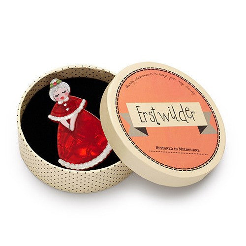 Mrs Claus Brooch Christmas 2016 ErstwilderbroochErstwilder - Cherri Lane 50's Vintage Inspired Pinup Rockabilly & Alternative Clothing Australia