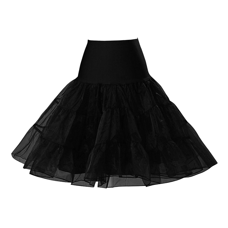 Multi Layer Organza Petticoat BlackPetticoatCherri Lane - Cherri Lane 50's Vintage Inspired Pinup Rockabilly & Alternative Clothing Australia