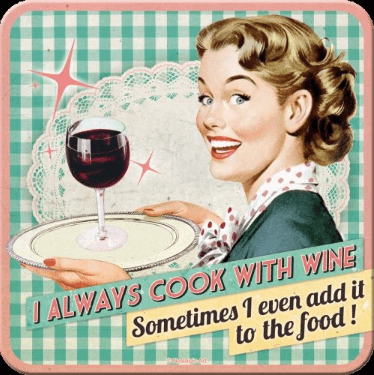 Cook With Wine 9cm Set of 5 Coasters