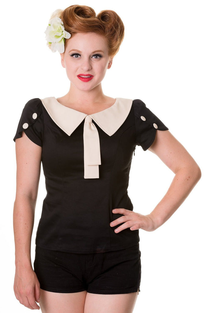 Elenor Retro Style TopTopBanned - Cherri Lane 50's Vintage Inspired Pinup Rockabilly & Alternative Clothing Australia
