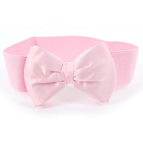 Satin Bow Wide Elastic Belt 12 Colours to choose from