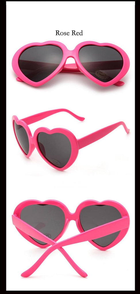 Heart Shaped Sunglasses Dark PinkAccessoriesCherri Lane - Cherri Lane 50's Vintage Inspired Pinup Rockabilly & Alternative Clothing Australia