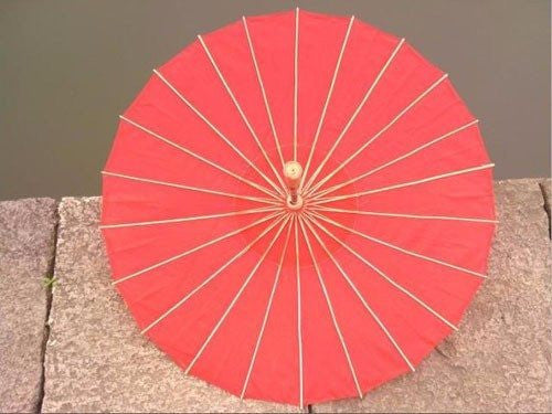 Fabric Parasol Umbrella bamboo frame Plain ColourParasolCherri Lane - Cherri Lane 50's Vintage Inspired Pinup Rockabilly & Alternative Clothing Australia