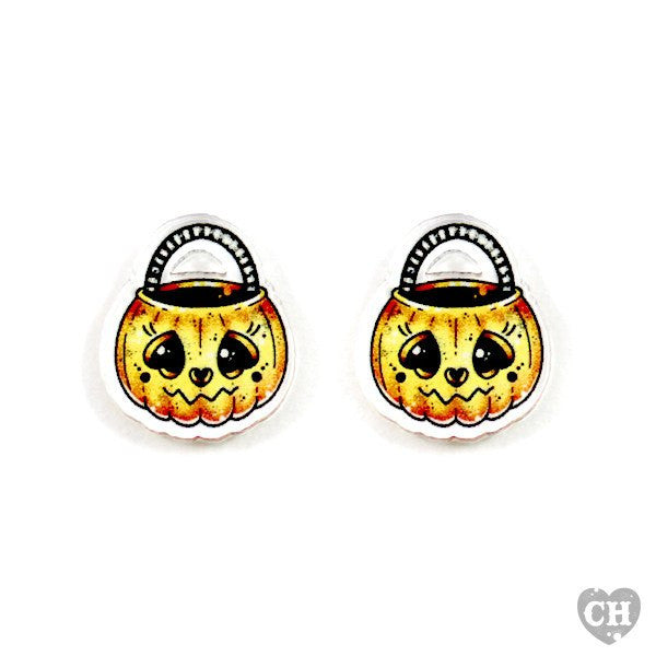 Happy Jack-O-Lantern EarringsEarringsCreep Heart - Cherri Lane 50's Vintage Inspired Pinup Rockabilly & Alternative Clothing Australia