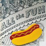 The Don Hot Dog Brooch