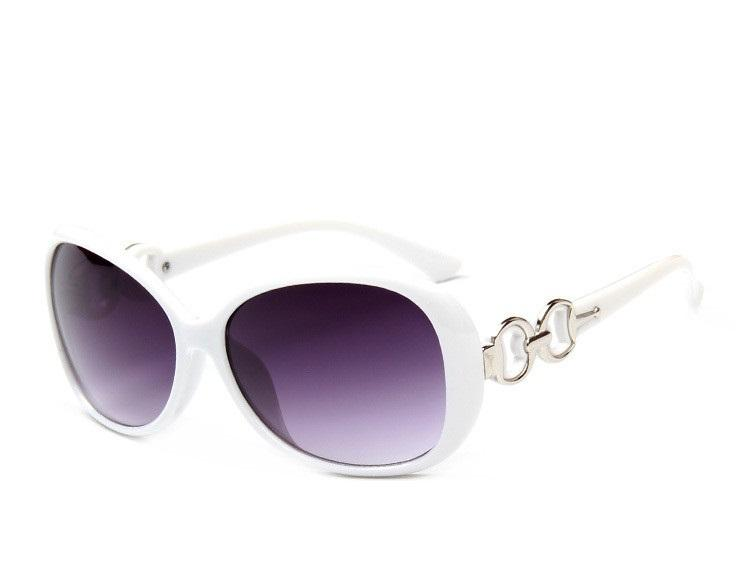 Large Oval White Frame Sunglasses UV400