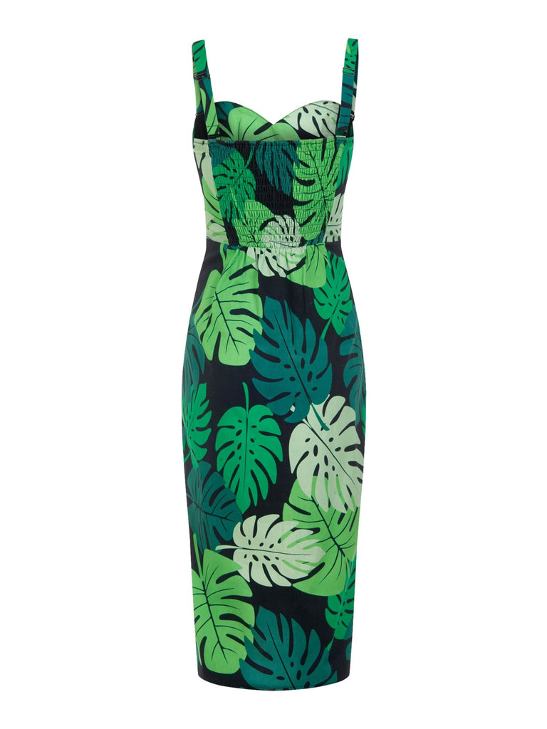 Mahina Tahiti Palm Print Pencil DressDressCollectif - Cherri Lane 50's Vintage Inspired Pinup Rockabilly & Alternative Clothing Australia