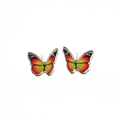 Butterfly studs OrangeEarringsPunky Pins - Cherri Lane 50's Vintage Inspired Pinup Rockabilly & Alternative Clothing Australia