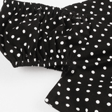 Poppy Black Polka Dot Top