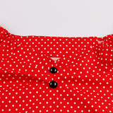 Poppy Red Polka Dot Top