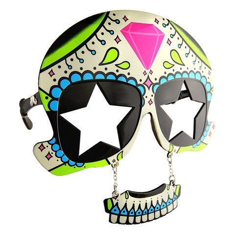 Sugar skull SunStachesAccessoriesSunStaches - Cherri Lane 50's Vintage Inspired Pinup Rockabilly & Alternative Clothing Australia