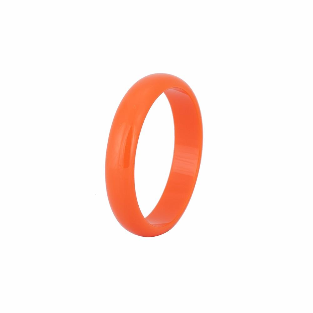 Smart & Smooth 1.7cm Wide Resin Bangle Burnt Orange