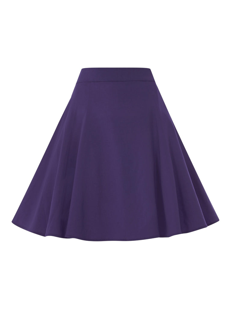 Tammy bengaline skirt PurpleSkirtCherri Lane - Cherri Lane 50's Vintage Inspired Pinup Rockabilly & Alternative Clothing Australia