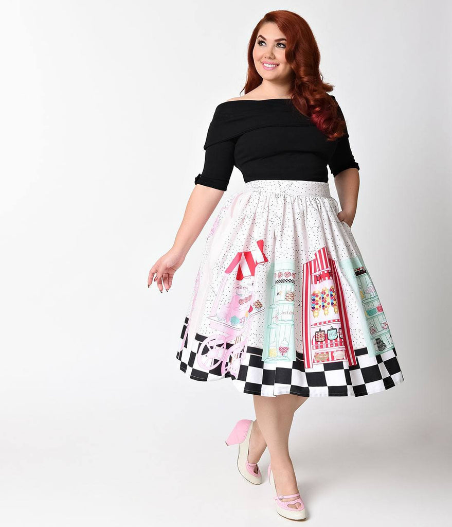 1950's Candy Shop Swing Skirt XS to 4XL Plus SizeskirtUnique Vintage - Cherri Lane 50's Vintage Inspired Pinup Rockabilly & Alternative Clothing Australia