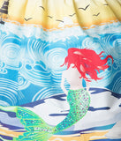 Unique Vintage 1950's Mermaid Daydream High Waisted Skirt XS to 4XL