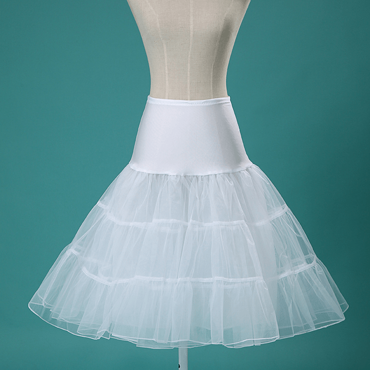 Multi Layer Organza Petticoat WhitePetticoatCherri Lane - Cherri Lane 50's Vintage Inspired Pinup Rockabilly & Alternative Clothing Australia