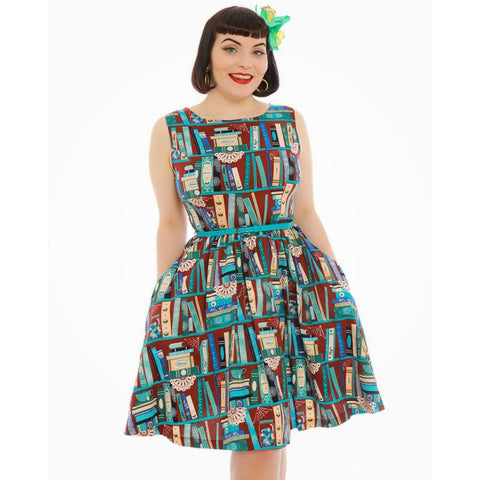 Blue Finches Tea Dress