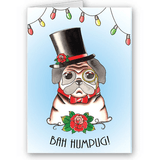 Bah Humpug Jubly Umph Christmas CardCards and gift wrapJubly-Umph - Cherri Lane 50's Vintage Inspired Pinup Rockabilly & Alternative Clothing Australia