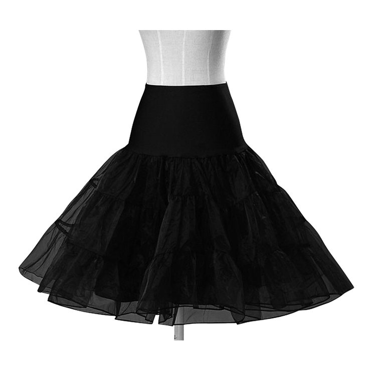 Multi Layer Organza Petticoat Black